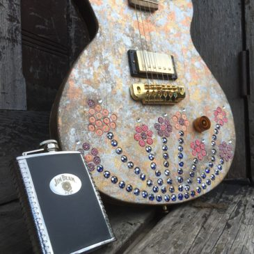 Kids Cancer Alliance Auctions Bourbon Barrel  Guitar