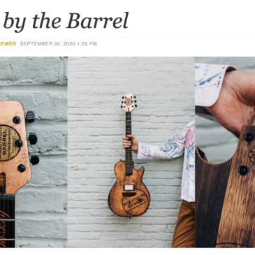 Bourbon Barrel Guitar Company Featured in Kentucky Monthly Magazine