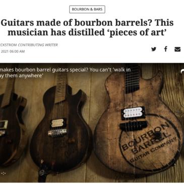 Bourbon Barrel Guitar Company Featured in the Lexington Herald Leader